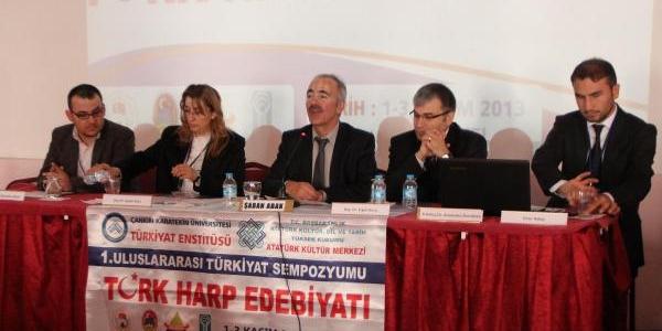 Türk Harp Edebiyati Sempozyumu Çankiri'da Başladi