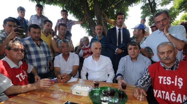 Türk- İş Genel Başkanından Yatağan İşçilerine Ziyaret