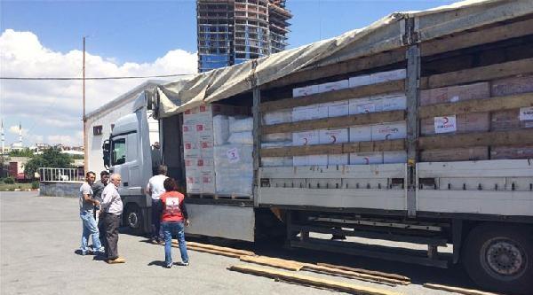 Türk Kızılayı Sel Felaketinin Yaşandığı Balkanlara Yardım Göndermeyi Sürdürüyor