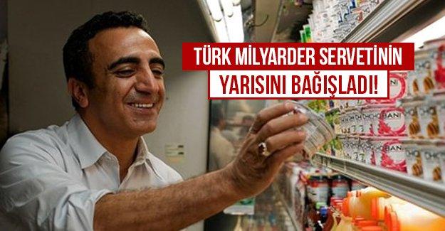 Türk Milyarder servetinin yarısını...