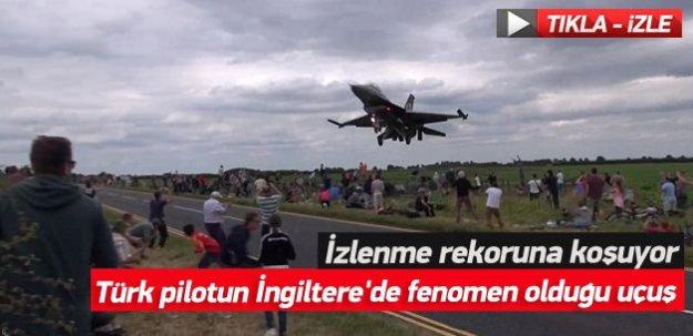 Türk pilotun İngiltere'de fenomen olduğu uçuşu izlenme rekoru kırıyor! -İZLE