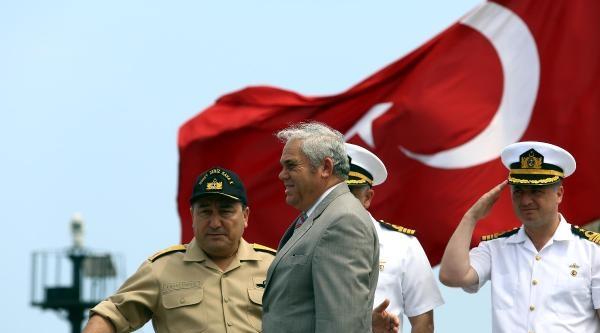 Türk Savaş Gemisi Tcg Gemlik Kktc Karasularında Tatbikat Yaptı