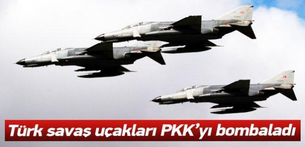 Türk savaş uçakları PKK'yı bombaladı