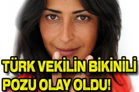 Türk vekilin bikinili pozu olay oldu!