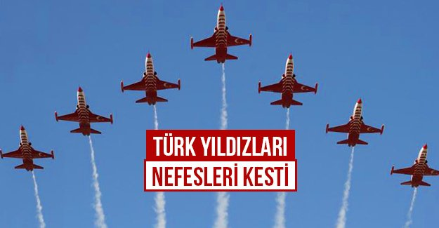Türk Yıldızları nefesleri kesti...