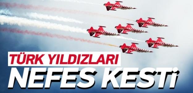 Türk Yıldızları yine nefes kesti