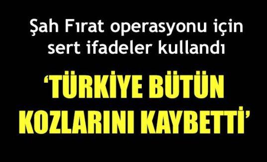 Türkiye bütün kozlarını kaybetti'