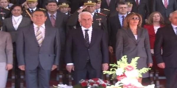 Türkiye Cumhuriyeti'Nin 90'Inci Kuruluş Yildönümü Kktc'De Törenle Kutlandi