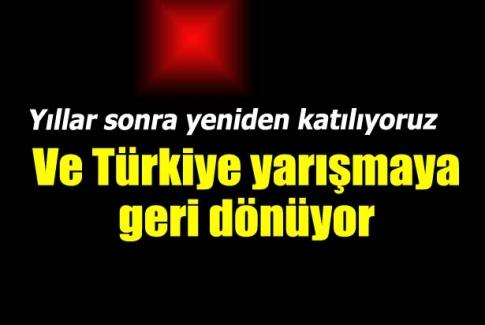 Türkiye Eurovision'a katılıyor