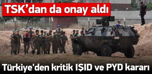 Türkiye'nin kararı: IŞİD'le mücadele, PYD'ye uyarı