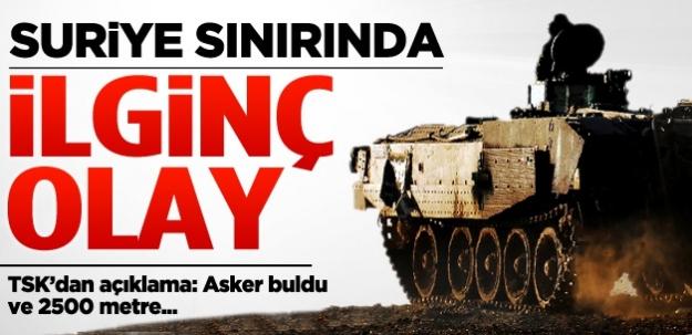 Türkiye - Suriye sınırında ilginç olay!