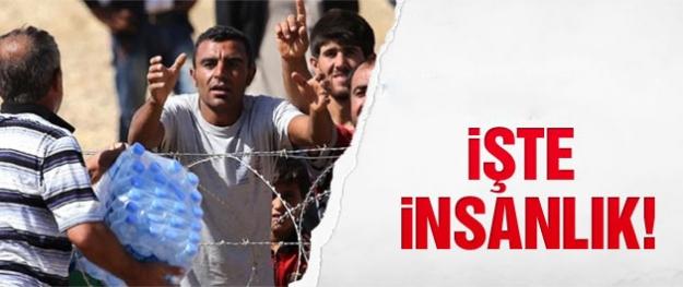 Türkiye, Suriyelilere yardım için sınıra koştu