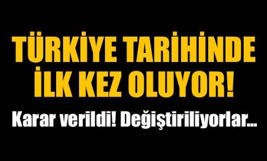 Türkiye tarihinde bir ilk!