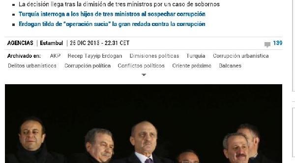 Türkiye'Deki Istifalar Ve Yeni Kabine Ispanya Basininda