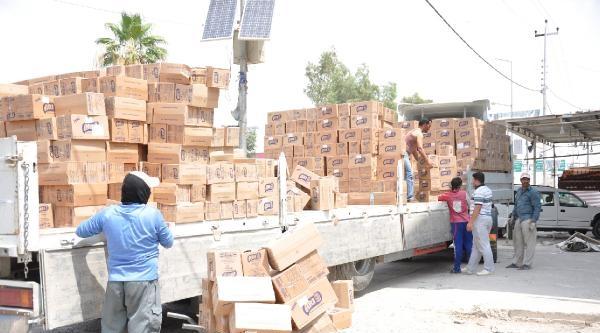 Türkiye'den Türkmenler İçin Gönderilen 70 Ton Gıda Yardımı Kerkük'e Ulaştı