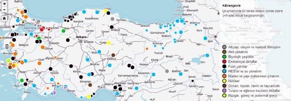 Türkiye'nin 'çevre Direnişi Atlasi'