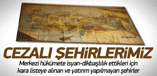 Türkiye'nin cezalı şehirleri