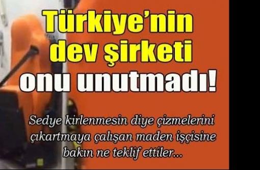 Türkiye`nin dev şirketi onu unutmadı
