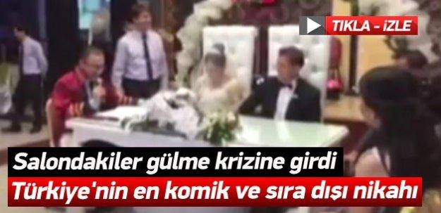 Türkiye'nin en komik ve sıra dışı nikahı! -İZLE