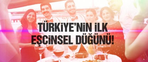 Türkiye'nin ilk eşcinsel düğünü!