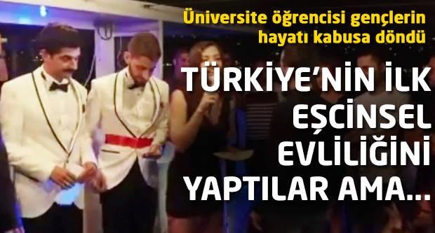 Türkiye'nin ilk eşcinsel evliliğini yaptılar ama...
