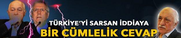 Türkiye'yi sarsan iddiaya bir cümlelik cevap