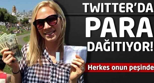 Twitter'da para dağıtıyor! Herkes onun peşinde...