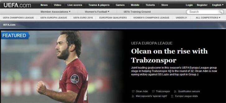 Uefa Olcan'ı Manşetlere Taşıdı
