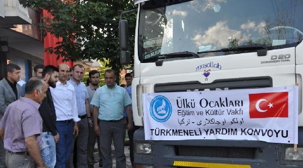 Ülkü Ocakları'nın Türkmeneli Yardım Konvoyu Kerkük'e Yola Çikti