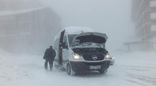 Uludağ'Da Kar Kalinliği 75 Santimetreye Ulaşti