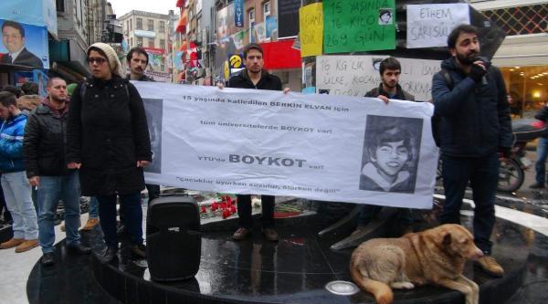 Üniversiteliler Berkin Elvan İçin Boykotta