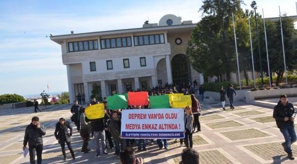 Üniversitelilerden Vanli Depremzedelere Destek