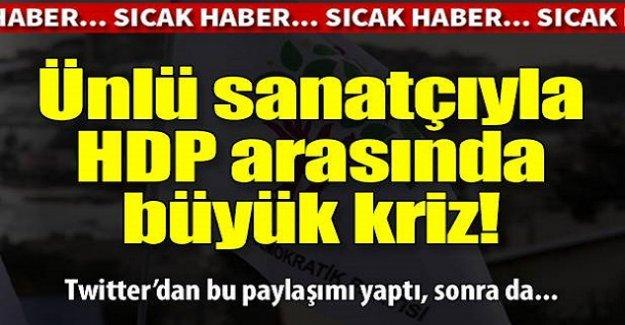 Ünlü şarkıcıyla HDP arasında büyük kriz!