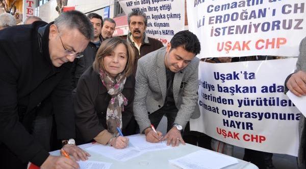 Uşak'Ta Erdoğan'A Imza Kampanyali Tepki