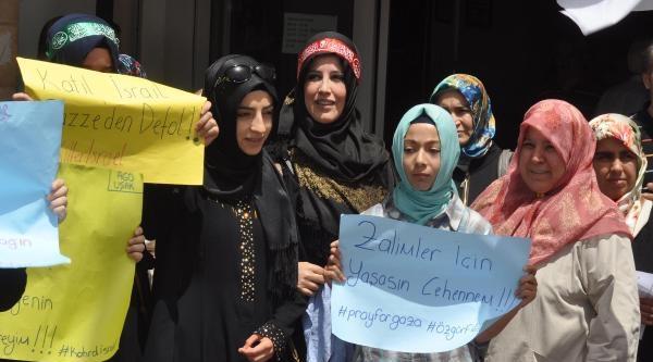 Uşak'ta İsrail Protestosu