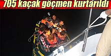 Ege Denizi'nde 705 kaçak göçmen kurtarıldı