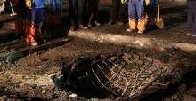 Beleştepe'deki patlamada 2 metrelik çukur oluştu