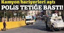 İstanbul Emniyet Müdürlüğü önünde kamyon paniği