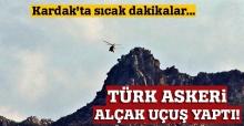 Türk askeri Kardak kayalıklarında alçak uçuş yaptı