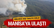 İzmir'de başlayan yangın Manisa'ya uzandı