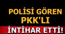 Polisin durdurduğu araçta bulunan PKK'lı terörist intihar etti