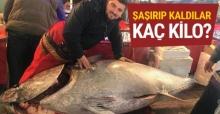 İzmir'de yakalan orkinos hayrete düşürdü