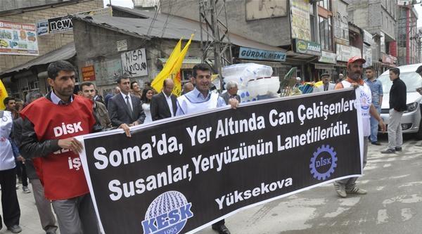 Van Ve Yüksekova'da Soma Yürüyüşü