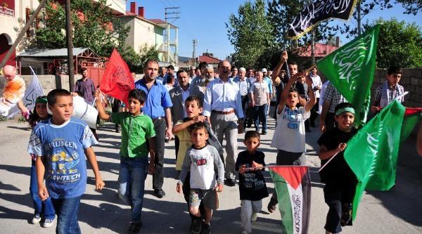 Van'da, Bm Yüksek Komiserliği Önünde İsrail Protestosu