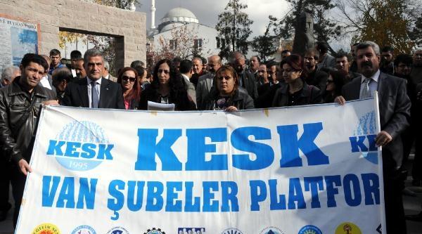 Van'da Kesk Üyelerinden Başbakana Protesto
