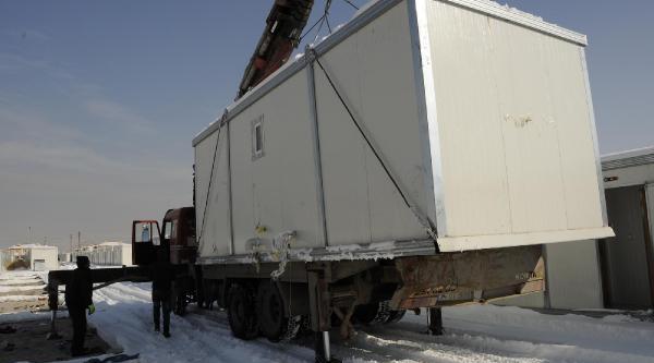 Van'daki Son Konteynerler De Toplaniyor