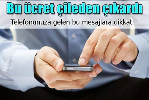 Vatandaşı çileden çıkartan SMS ücreti