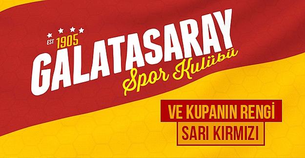 Ve Kupanın Rengi Sarı Kırmızı Şampiyon GALATASARAY