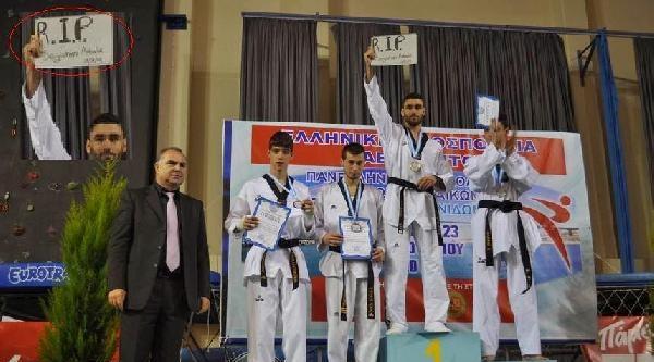 Vefat Eden Milli Taekwondocu Seyithan Akbalık, Yunanistan'da Anıldı