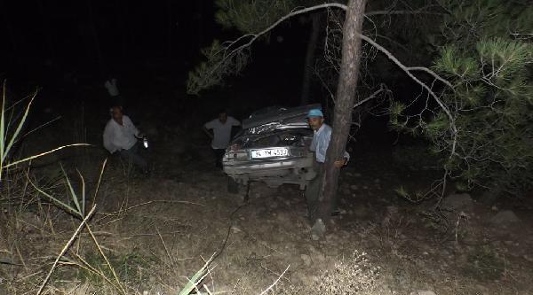 Virajı Alamayan Otomobil Şarampole Yuvarlandı: 2 Ölü, 2 Yaralı